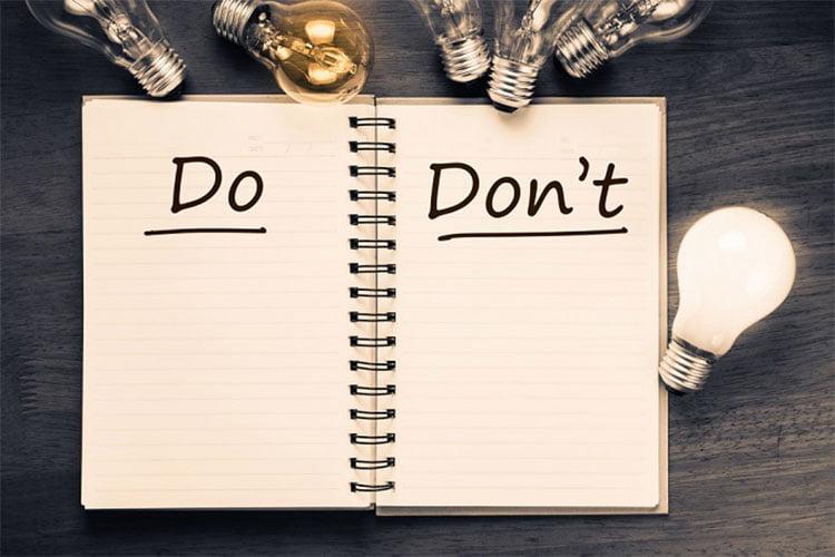 اهمیت لیست نبایدها در کارآفرینی