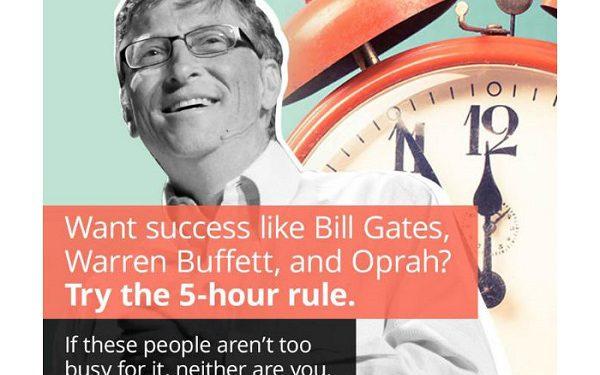 قانون ۵ ساعت در هفته ؛ اصل محبوب بیل گیتس برای موفقیت